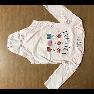 NWOT Baby Gap Sz 18-24M Auntie's BFF Onsie in Pink